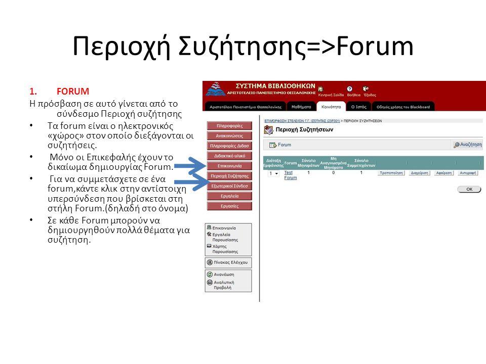 Περιοχή Συζήτησης=>Forum