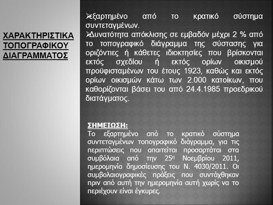 ΧΑΡΑΚΤΗΡΙΣΤΙΚΑ ΤΟΠΟΓΡΑΦΙΚΟΥ ΔΙΑΓΡΑΜΜΑΤΟΣ