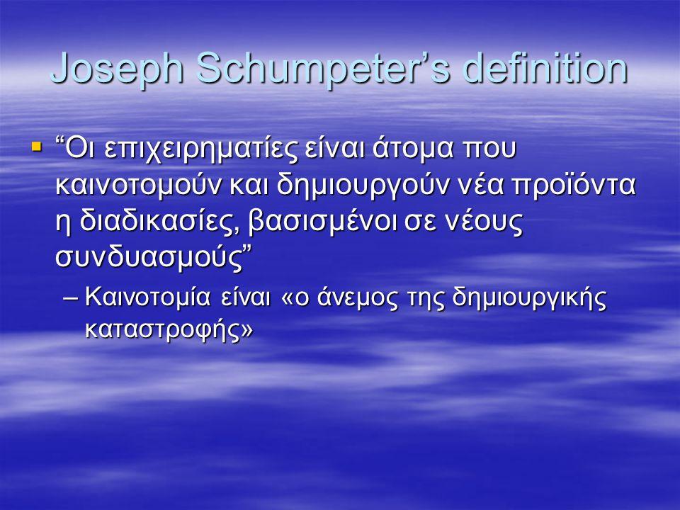 Joseph Schumpeter's definition