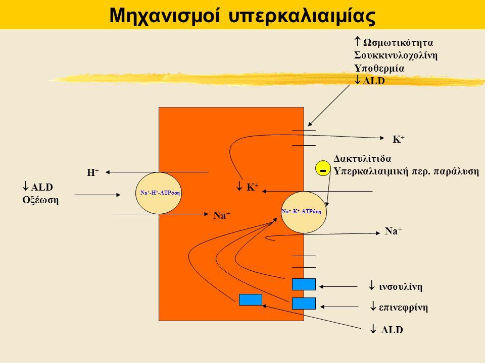Μηχανισμοί υπερκαλιαιμίας