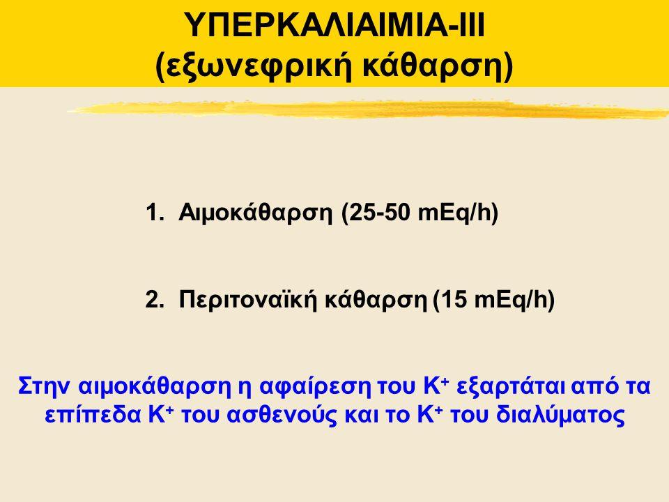 ΥΠΕΡΚΑΛΙΑΙΜΙΑ-ΙΙΙ (εξωνεφρική κάθαρση)