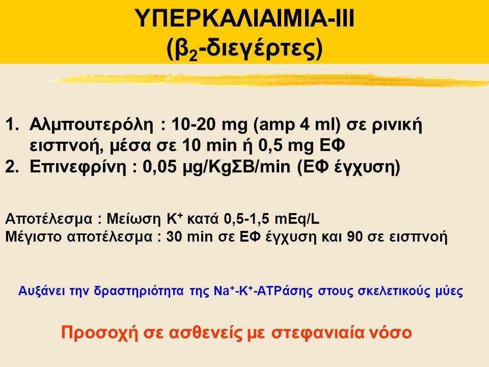 ΥΠΕΡΚΑΛΙΑΙΜΙΑ-IIΙ (β2-διεγέρτες)