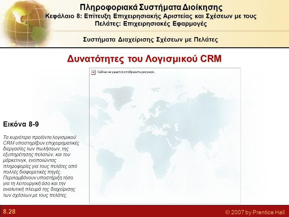 Δυνατότητες του Λογισμικού CRM