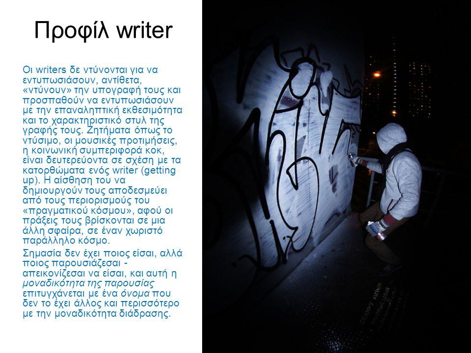 Προφίλ writer