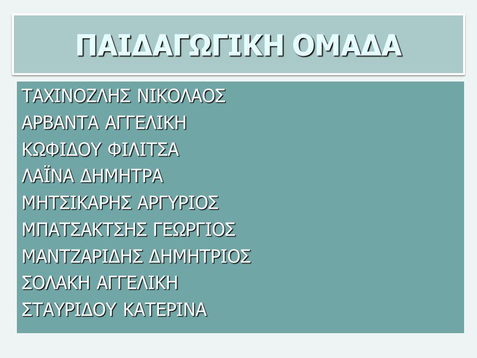 ΠΑΙΔΑΓΩΓΙΚΗ ΟΜΑΔΑ