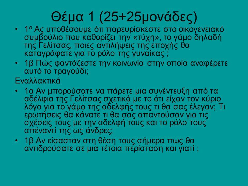 Θέμα 1 (25+25μονάδες)