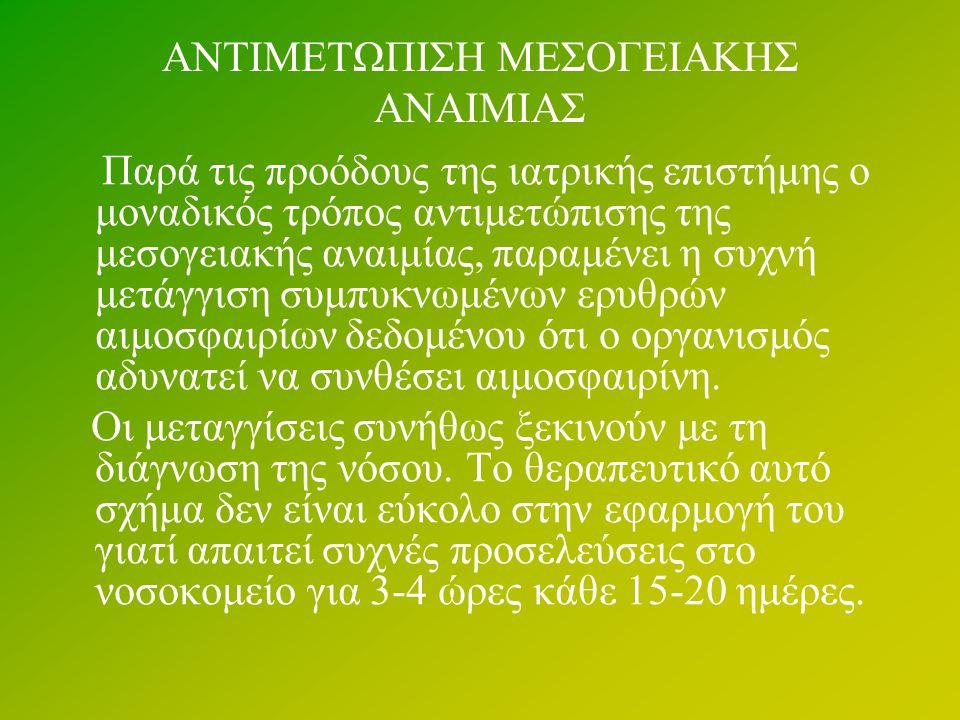 ΑΝΤΙΜΕΤΩΠΙΣΗ ΜΕΣΟΓΕΙΑΚΗΣ ΑΝΑΙΜΙΑΣ