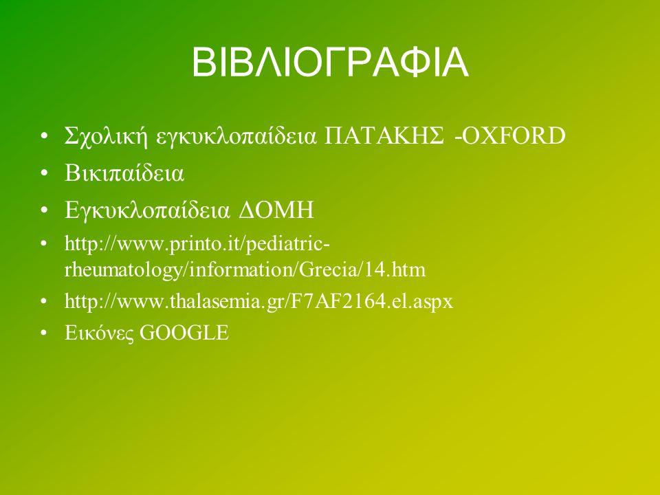 ΒΙΒΛΙΟΓΡΑΦΙΑ Σχολική εγκυκλοπαίδεια ΠΑΤΑΚΗΣ -OXFORD Βικιπαίδεια