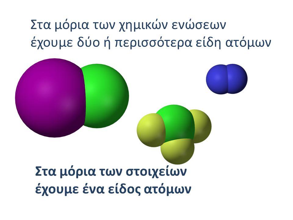 Στα μόρια των χημικών ενώσεων