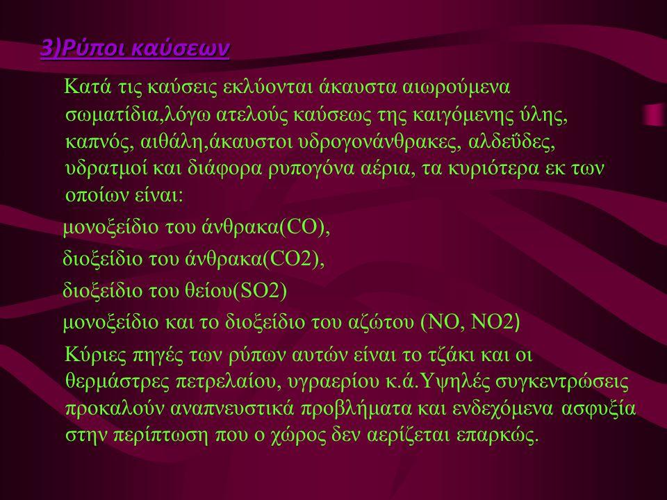 3)Ρύποι καύσεων