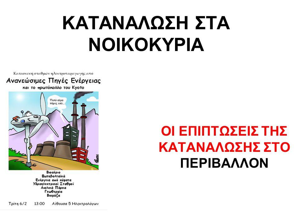 ΚΑΤΑΝΑΛΩΣΗ ΣΤΑ ΝΟΙΚΟΚΥΡΙΑ