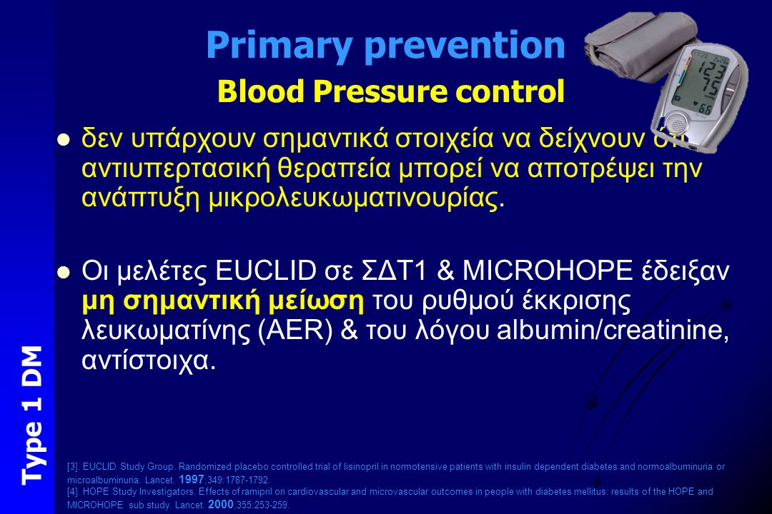 Primary prevention Blood Pressure control
