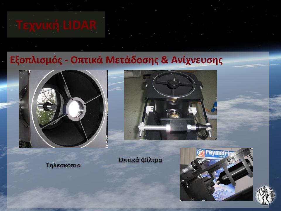 Τεχνική LIDAR Εξοπλισμός - Οπτικά Μετάδοσης & Ανίχνευσης Οπτικά Φίλτρα