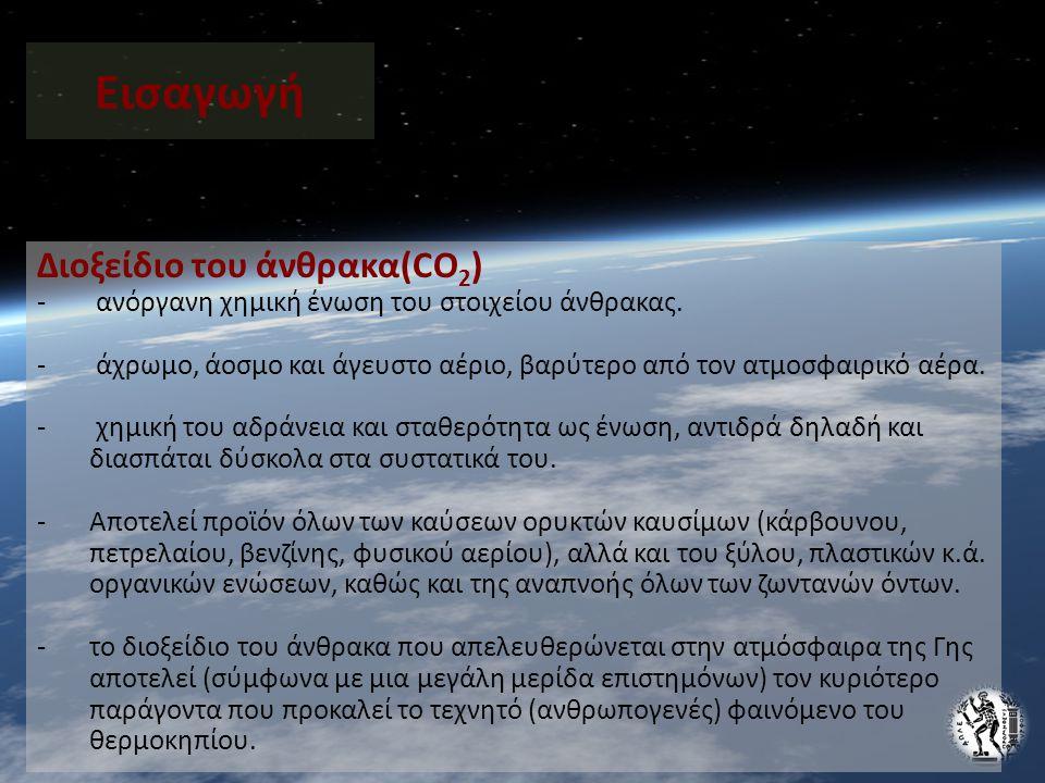 Εισαγωγή Διοξείδιο του άνθρακα(CO2)