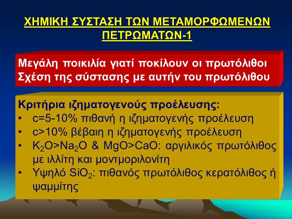 ΧΗΜΙΚΗ ΣΥΣΤΑΣΗ ΤΩΝ ΜΕΤΑΜΟΡΦΩΜΕΝΩΝ ΠΕΤΡΩΜΑΤΩΝ-1