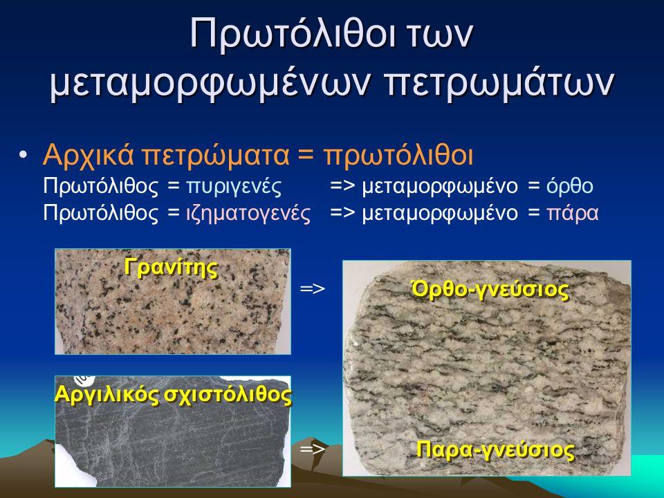 Πρωτόλιθοι των μεταμορφωμένων πετρωμάτων