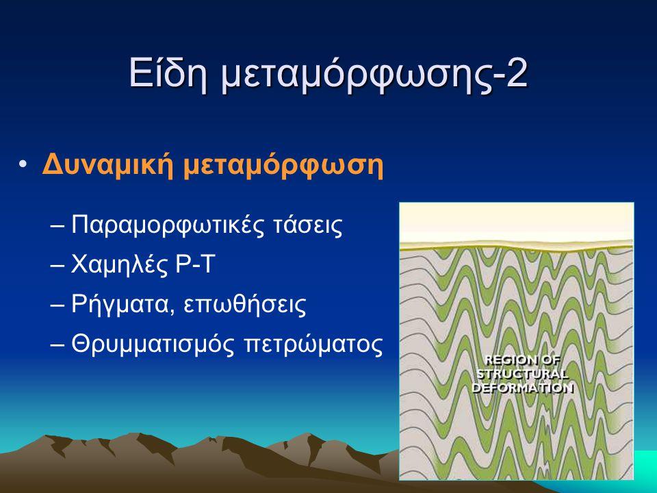 Είδη μεταμόρφωσης-2 Δυναμική μεταμόρφωση Παραμορφωτικές τάσεις