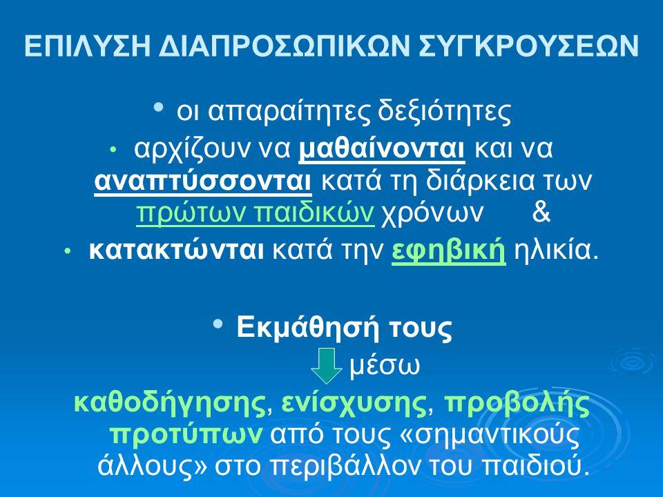 ΕΠΙΛΥΣΗ ΔΙΑΠΡΟΣΩΠΙΚΩΝ ΣΥΓΚΡΟΥΣΕΩΝ