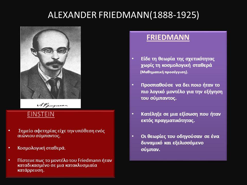 ALEXANDER FRIEDMANN(1888-1925)