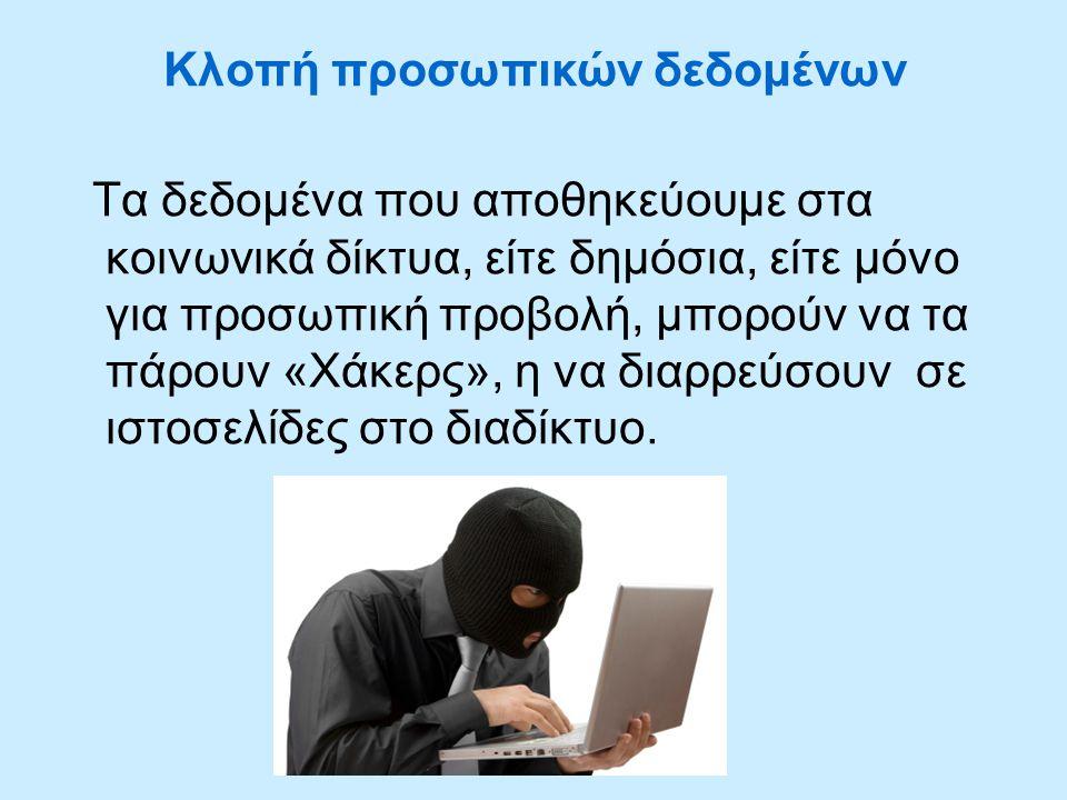 Κλοπή προσωπικών δεδομένων