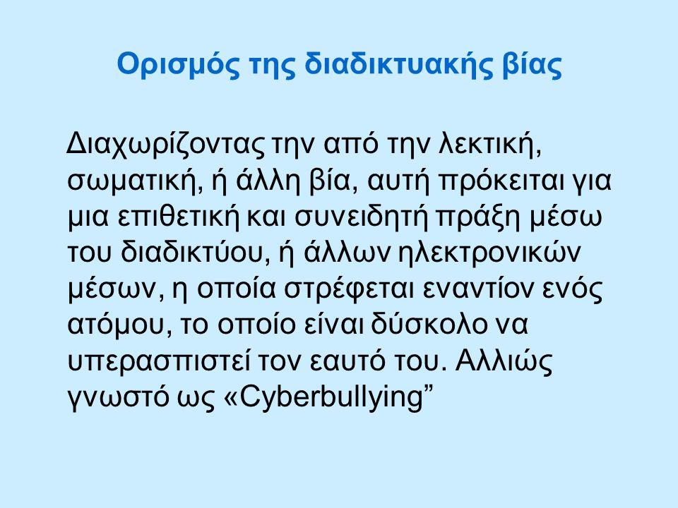 Ορισμός της διαδικτυακής βίας