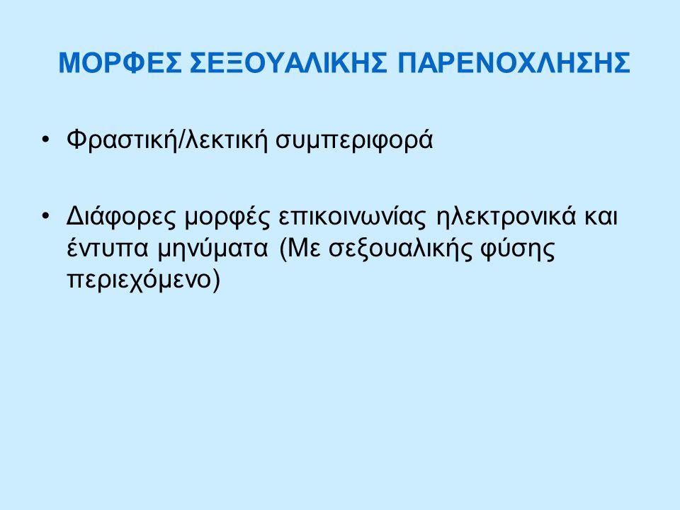 ΜΟΡΦΕΣ ΣΕΞΟΥΑΛΙΚΗΣ ΠΑΡΕΝΟΧΛΗΣΗΣ