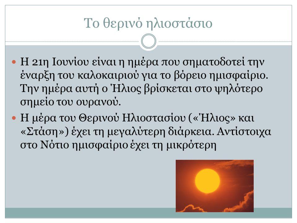 Το θερινό ηλιοστάσιο