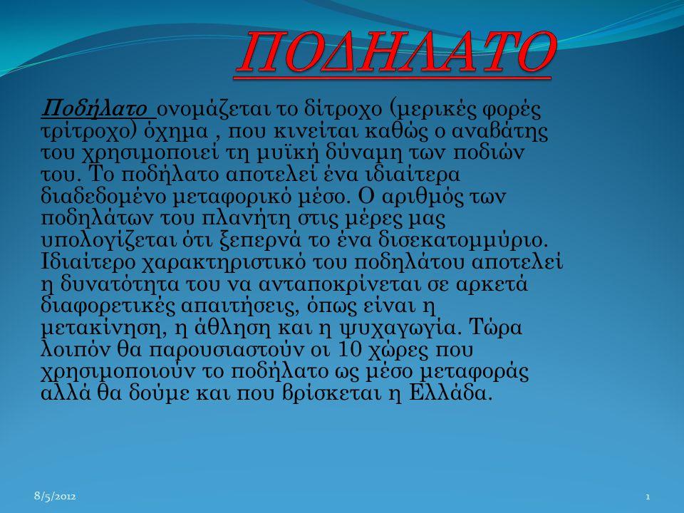 ΠΟΔΗΛΑΤΟ 2/5/2012.