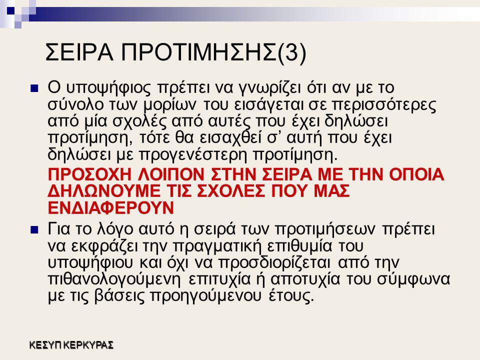 ΣΕΙΡΑ ΠΡΟΤΙΜΗΣΗΣ(3)
