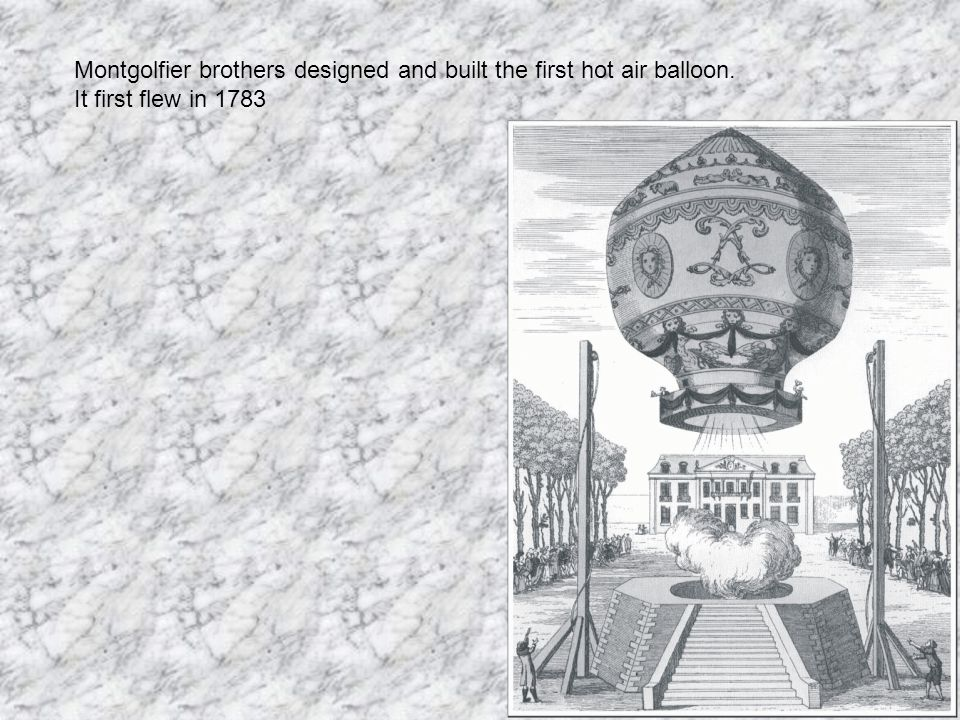 Montgolfier brothers designed and built the first hot air balloon.