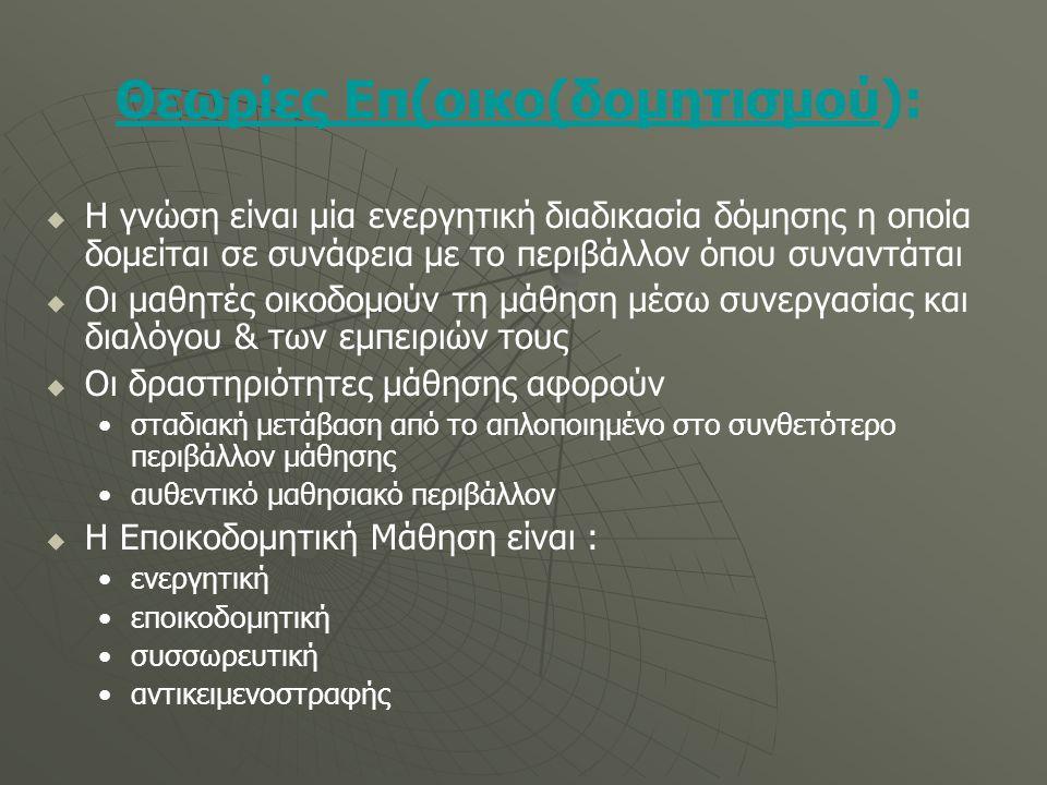 Θεωρίες Επ(οικο(δομητισμού):