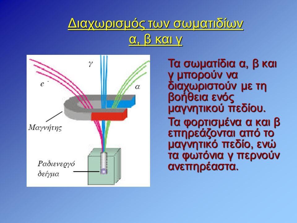 Διαχωρισμός των σωματιδίων