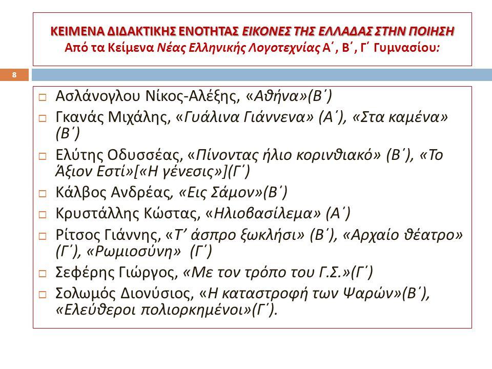Ασλάνογλου Νίκος-Αλέξης, «Αθήνα»(Β΄)