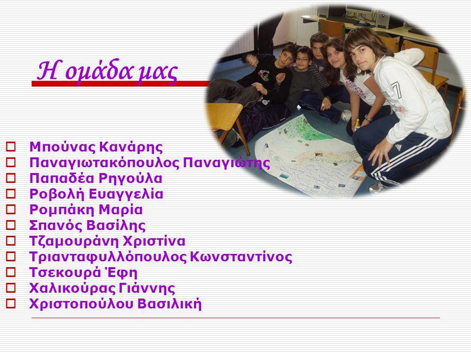 Η ομάδα μας Μπούνας Κανάρης Παναγιωτακόπουλος Παναγιώτης