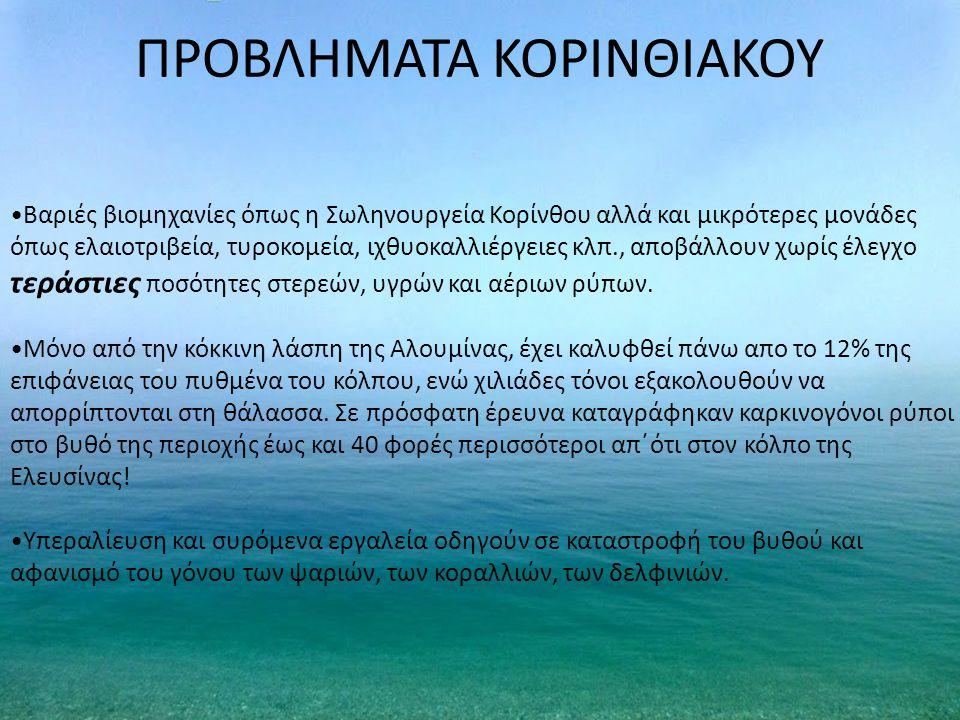 ΠΡΟΒΛΗΜΑΤΑ ΚΟΡΙΝΘΙΑΚΟΥ