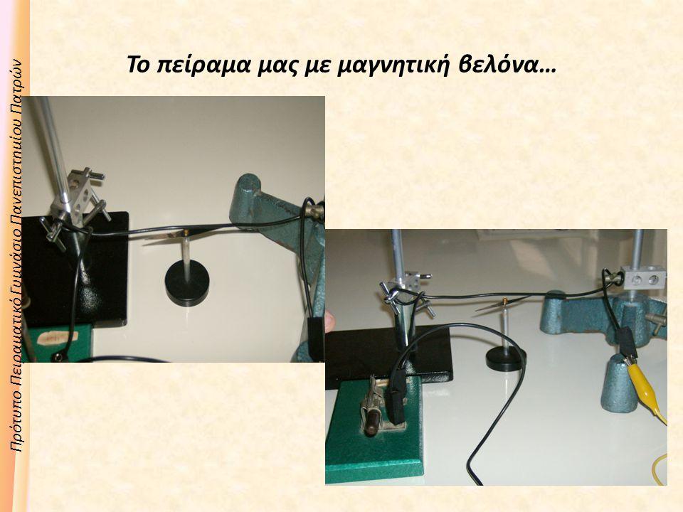 Το πείραμα μας με μαγνητική βελόνα…