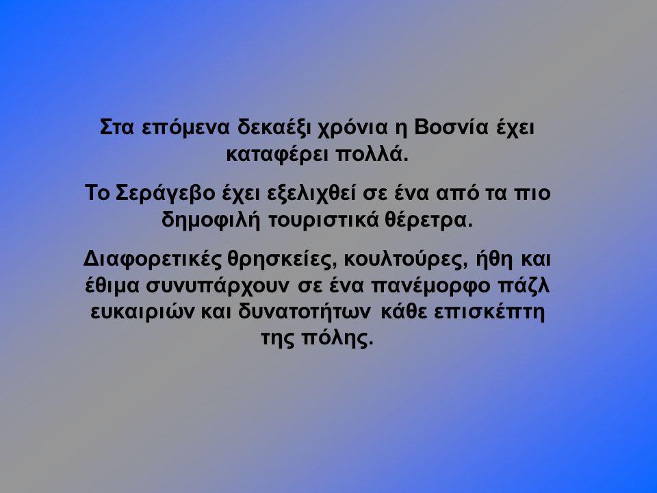 Στα επόμενα δεκαέξι χρόνια η Βοσνία έχει καταφέρει πολλά.
