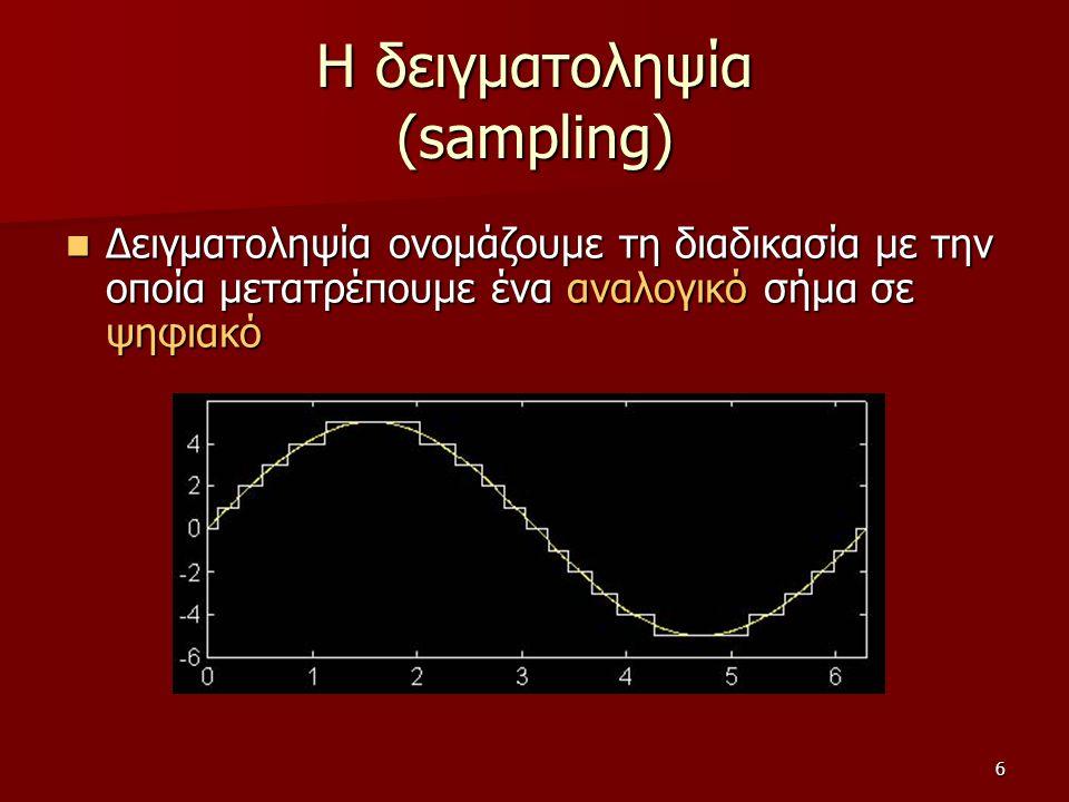Η δειγματοληψία (sampling)