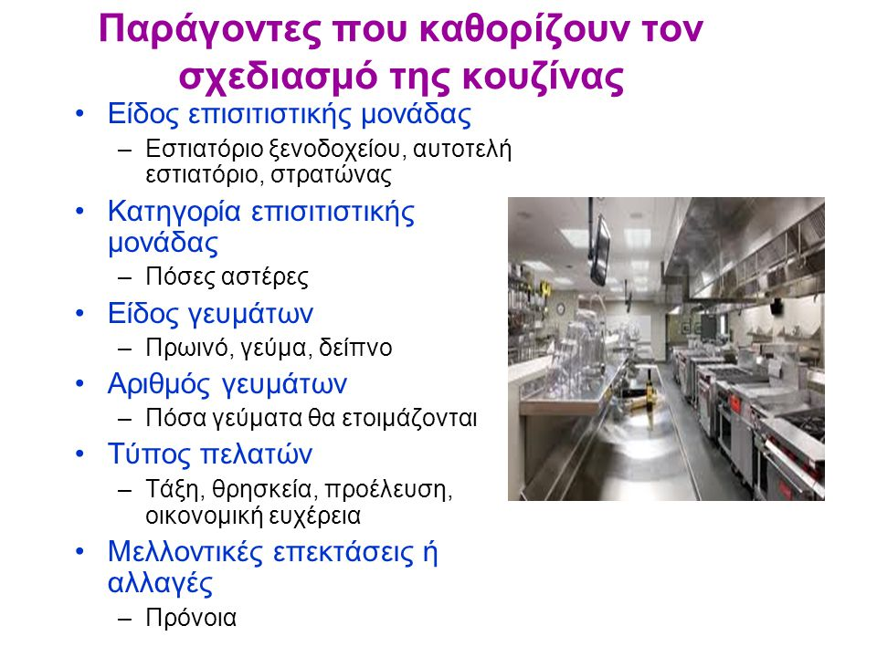 Παράγοντες που καθορίζουν τον σχεδιασμό της κουζίνας