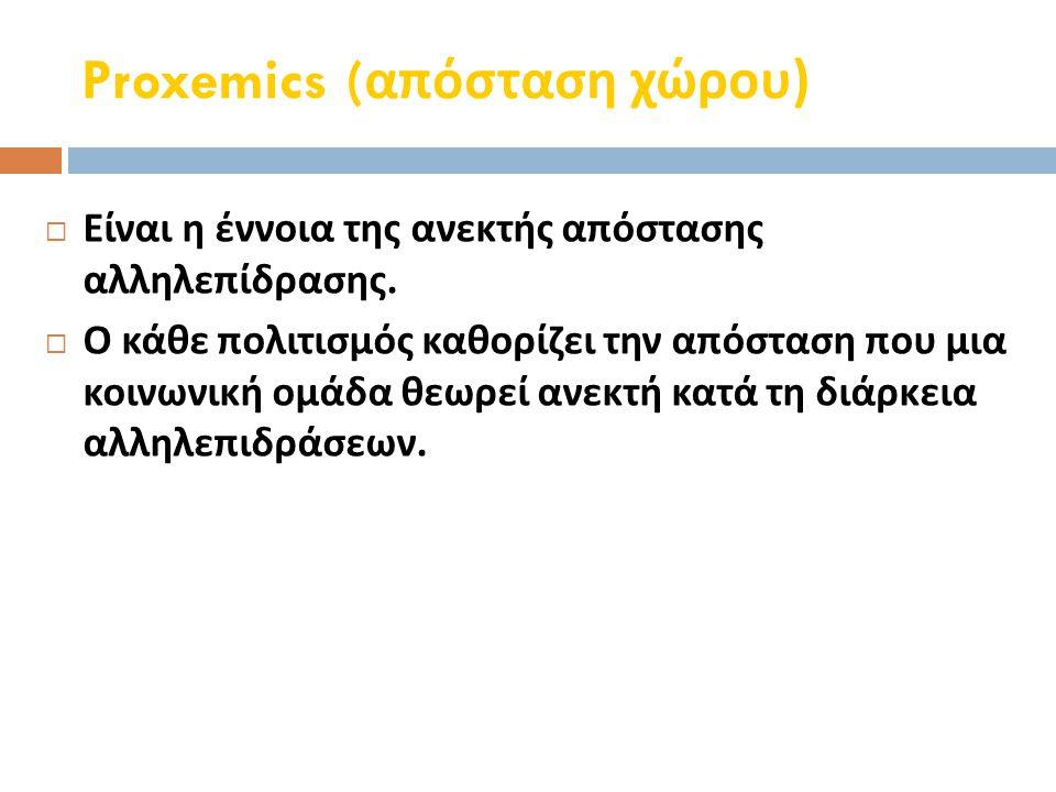 Proxemics (απόσταση χώρου)