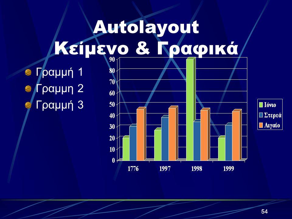 Autolayout Κείμενο & Γραφικά