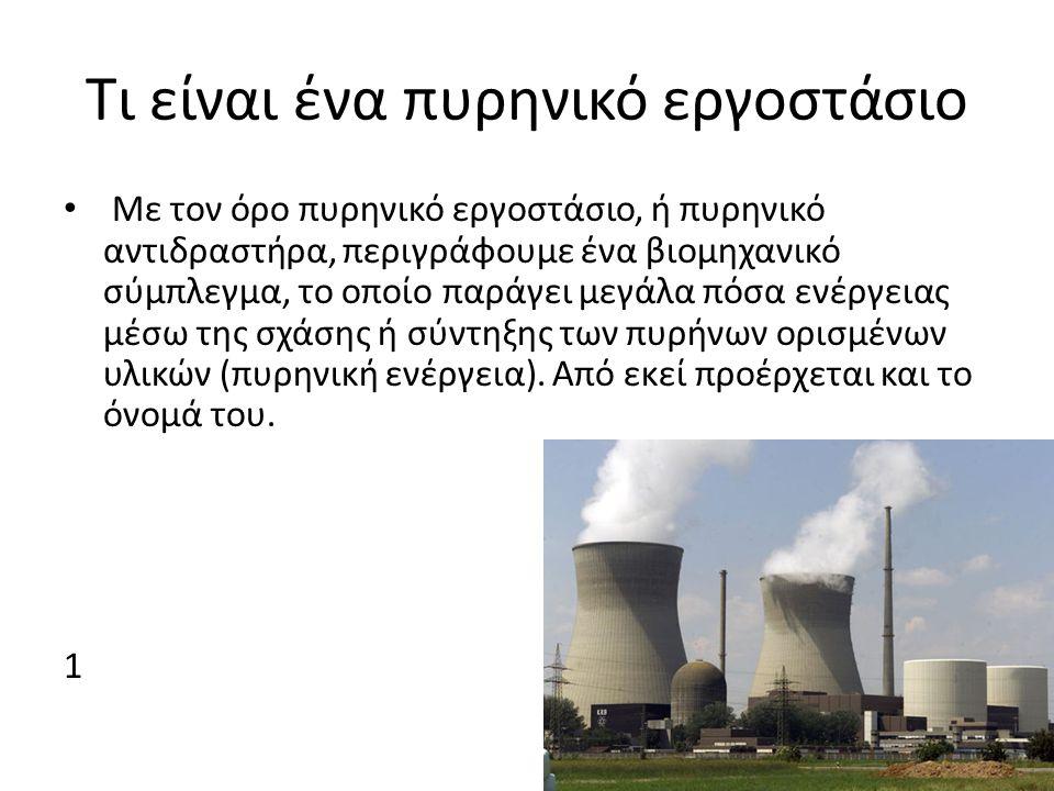 Τι είναι ένα πυρηνικό εργοστάσιο