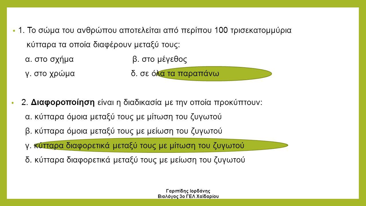 Γαριπίδης Ιορδάνης Βιολόγος 3ο ΓΕΛ Χαϊδαρίου