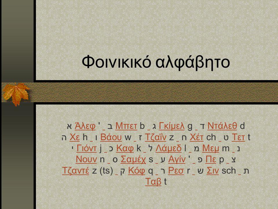 Φοινικικό αλφάβητο