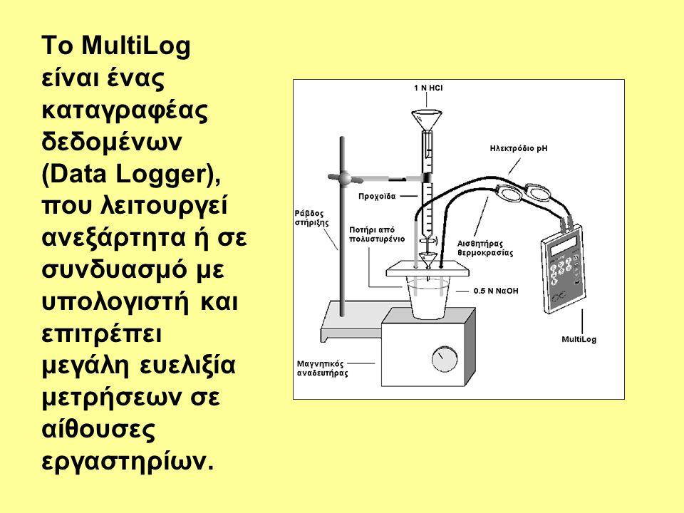 Το MultiLog είναι ένας καταγραφέας δεδομένων (Data Logger), που λειτουργεί ανεξάρτητα ή σε συνδυασμό με υπολογιστή και επιτρέπει μεγάλη ευελιξία μετρήσεων σε αίθουσες εργαστηρίων.