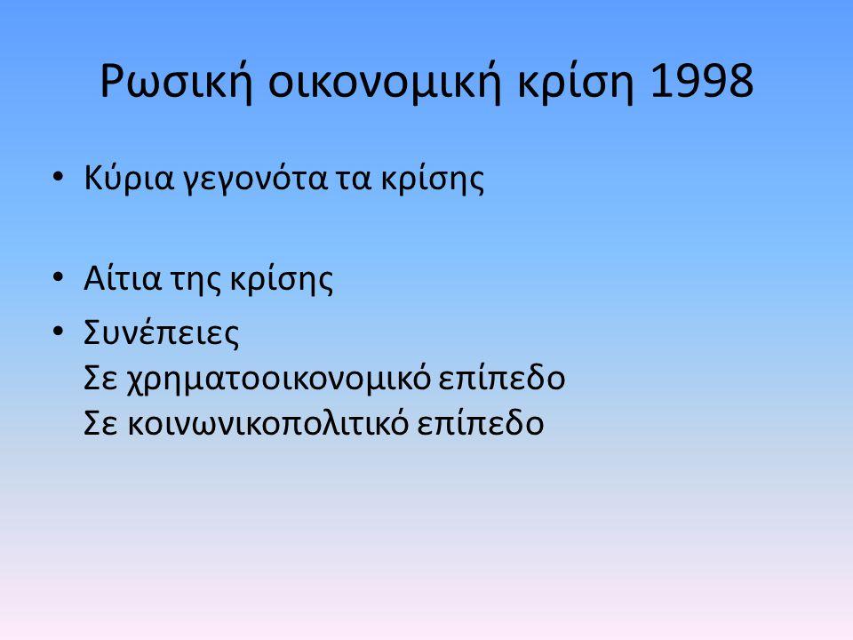 Ρωσική οικονομική κρίση 1998