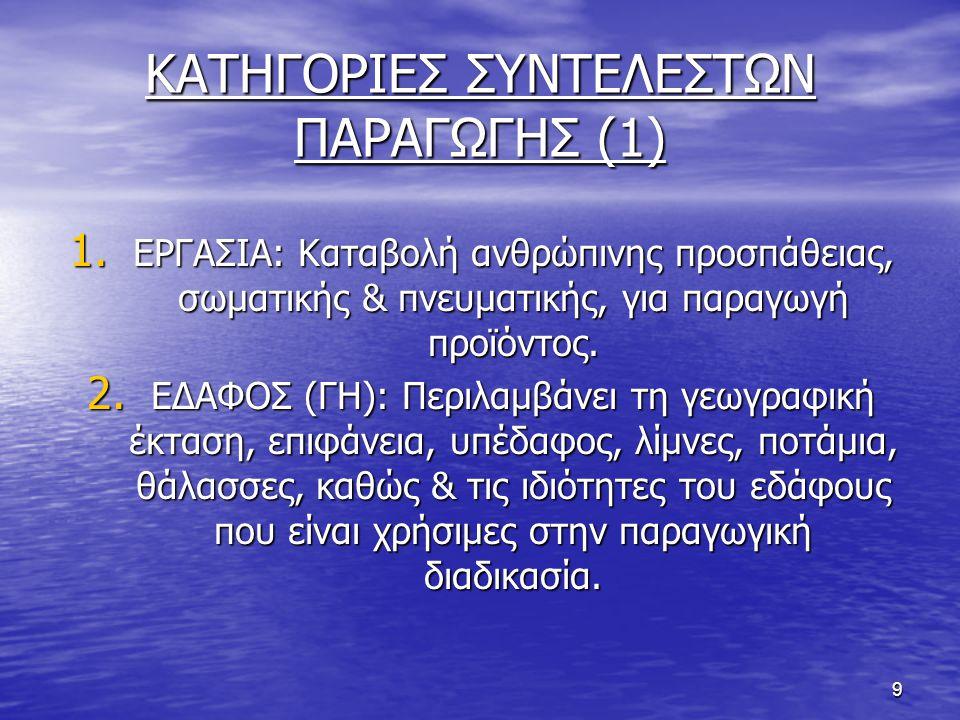 ΚΑΤΗΓΟΡΙΕΣ ΣΥΝΤΕΛΕΣΤΩΝ ΠΑΡΑΓΩΓΗΣ (1)
