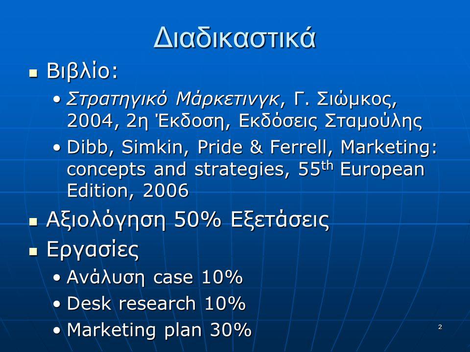 Διαδικαστικά Βιβλίο: Αξιολόγηση 50% Εξετάσεις Εργασίες