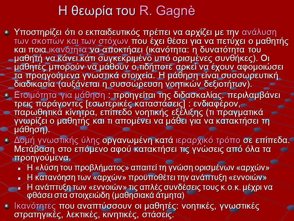 Η θεωρία του R. Gagnè