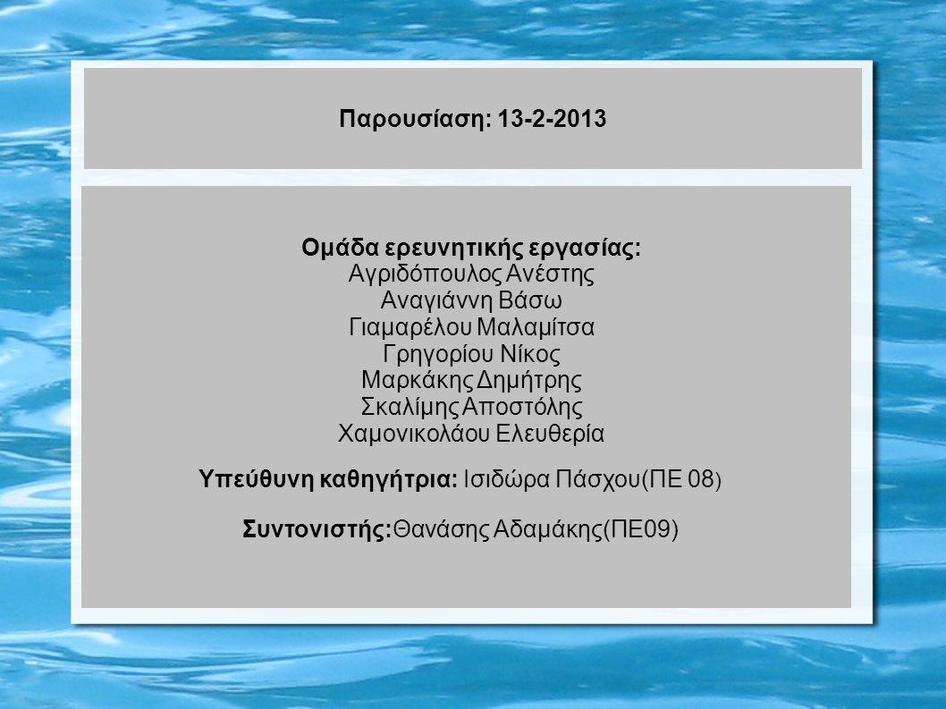 Παρουσίαση: 13-2-2013